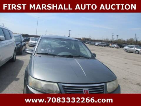 2005 Saturn Ion for sale at First Marshall Auto Auction in Harvey IL
