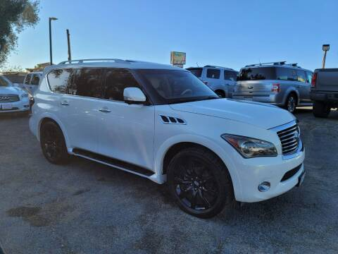 2012 Infiniti QX56 for sale at E and M Auto Sales in Bloomington CA