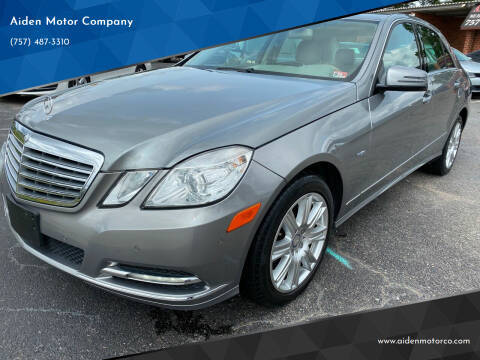 2012 Mercedes-Benz E-Class for sale at Aiden Motor Company in Portsmouth VA
