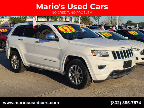 2014 Jeep Grand Cherokee for sale at Mario's Used Cars in Houston TX
