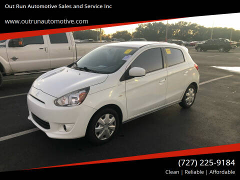 2015 Mitsubishi Mirage for sale at Out Run Automotive Sales and Service Inc in Tampa FL