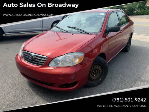 2007 Toyota Corolla for sale at Auto Sales on Broadway in Norwood MA