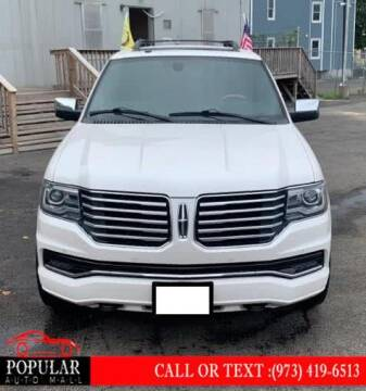 2017 Lincoln Navigator for sale at Popular Auto Mall Inc in Newark NJ
