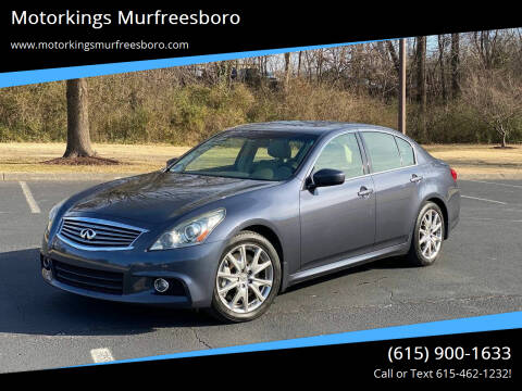 2011 Infiniti G37 Sedan for sale at Motorkings Murfreesboro in Murfreesboro TN