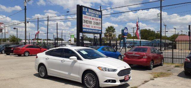 2013 Ford Fusion for sale at S.A. BROADWAY MOTORS INC in San Antonio TX