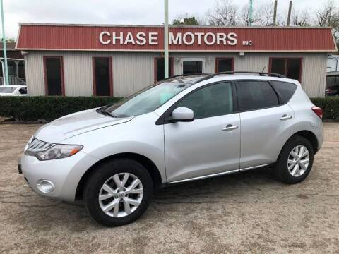 2012 Nissan Murano for sale at Chase Motors Inc in Stafford TX