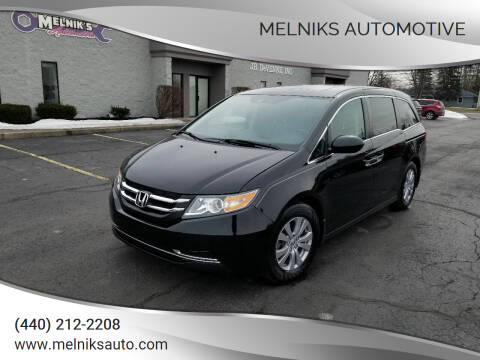 2016 Honda Odyssey for sale at Melniks Automotive in Berea OH