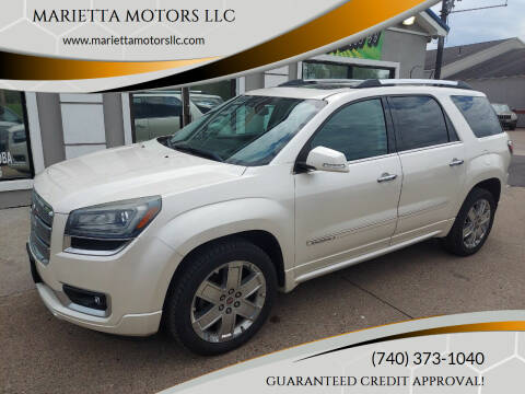 2013 GMC Acadia for sale at MARIETTA MOTORS LLC in Marietta OH
