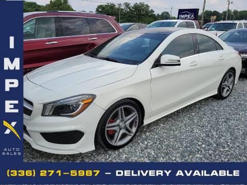 2014 Mercedes-Benz CLA for sale at Impex Auto Sales in Greensboro NC