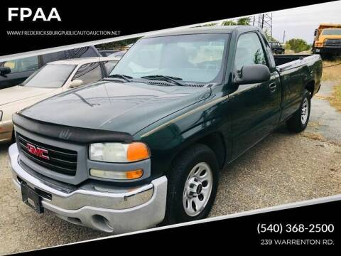2005 GMC Sierra 1500 for sale at FPAA in Fredericksburg VA