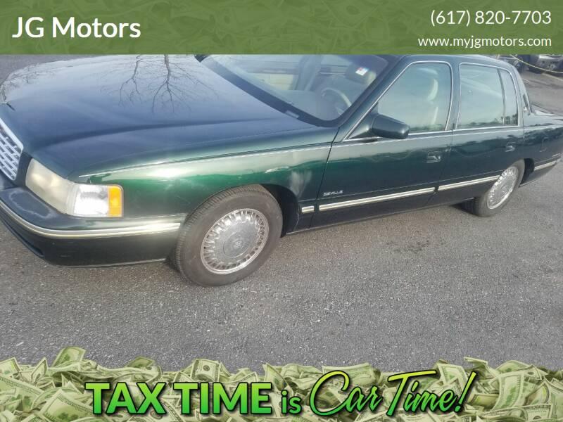 1997 Cadillac DeVille for sale at JG Motors in Worcester MA