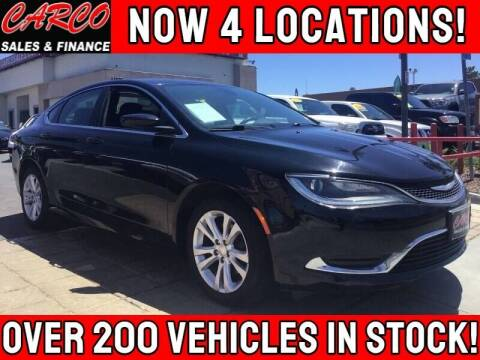 2016 Chrysler 200 for sale at CARCO SALES & FINANCE in Chula Vista CA