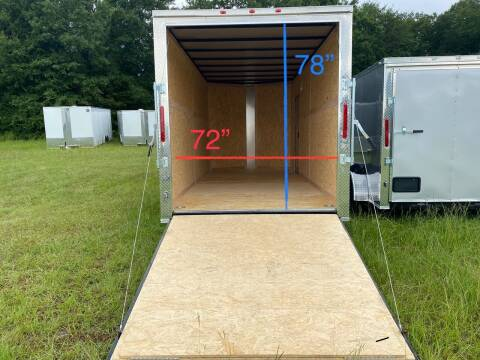 2021 7x16 Tandem Axle Enclosed  Cargo Trailer for sale at Direct Connect Cargo in Tifton GA