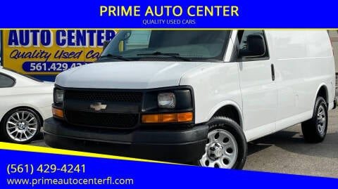 2013 Chevrolet Express Cargo for sale at PRIME AUTO CENTER in Palm Springs FL