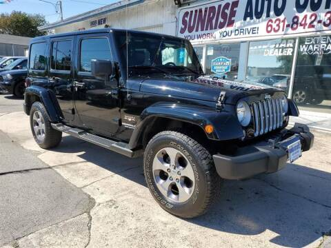 2016 Jeep Wrangler Unlimited for sale at Sunrise Auto Outlet in Amityville NY