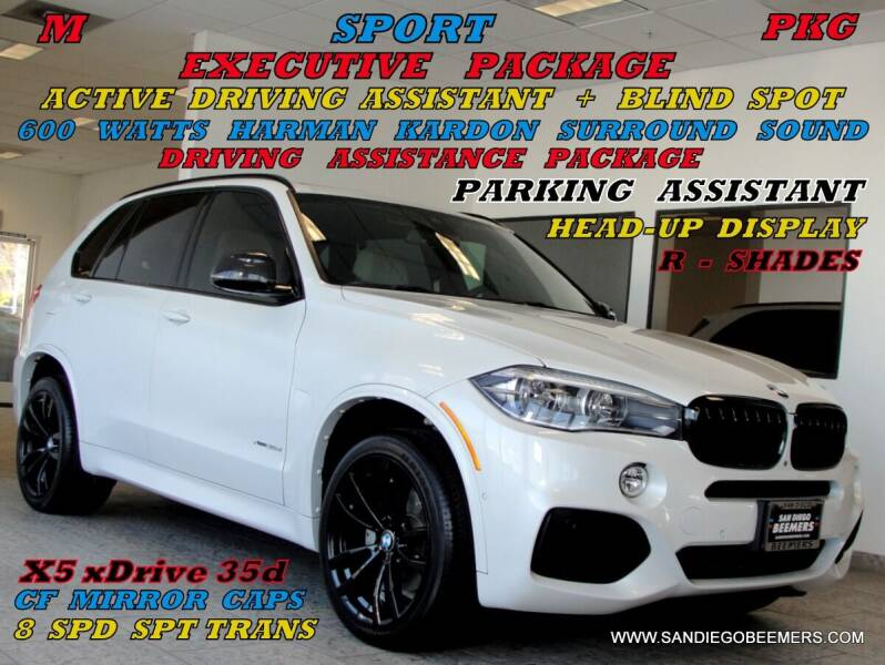 2018 BMW X5 for sale at SAN DIEGO BEEMERS in San Diego CA