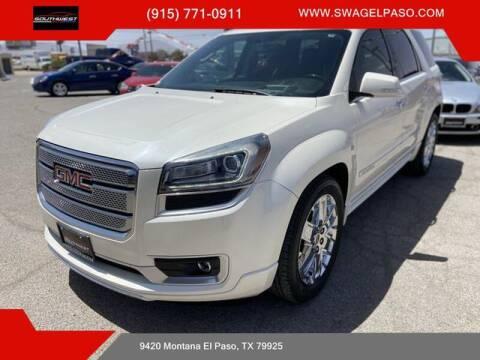 2013 GMC Acadia for sale at SOUTHWEST AUTO GROUP-EL PASO in El Paso TX
