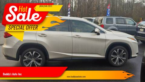 2017 Lexus RX 350 for sale at Buddy's Auto Inc in Pendleton SC