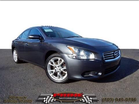 2012 Nissan Maxima for sale at PRIME MOTORS LLC in Arlington VA