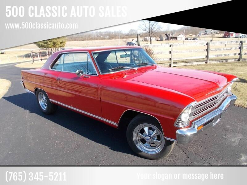 1967 Chevrolet Nova for sale at 500 CLASSIC AUTO SALES in Knightstown IN