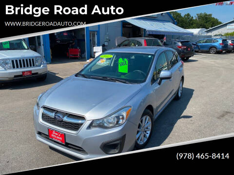2012 Subaru Impreza for sale at Bridge Road Auto in Salisbury MA
