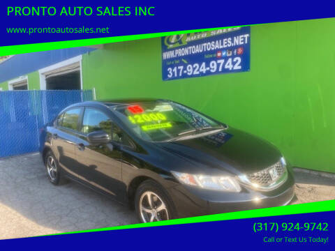 2015 Honda Civic for sale at PRONTO AUTO SALES INC in Indianapolis IN