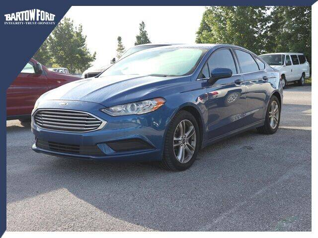 2018 Ford Fusion for sale at BARTOW FORD CO. in Bartow FL