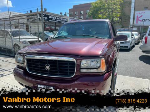 2000 Cadillac Escalade for sale at Vanbro Motors Inc in Staten Island NY