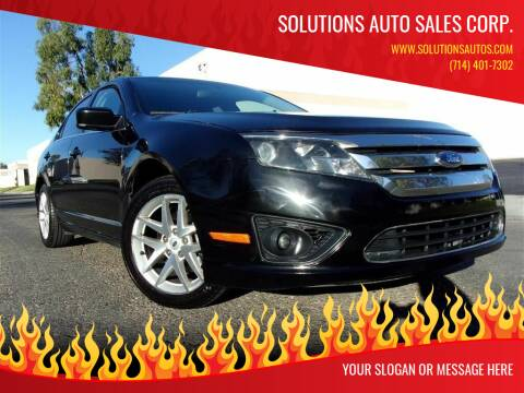 2011 Ford Fusion for sale at Solutions Auto Sales Corp. in Orange CA