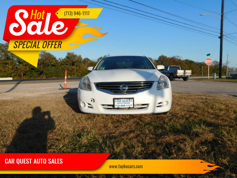 2012 Nissan Altima for sale at CAR QUEST AUTO SALES in Houston TX