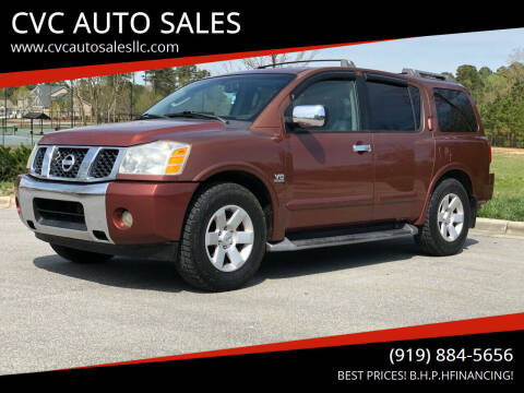 2004 Nissan Armada for sale at CVC AUTO SALES in Durham NC