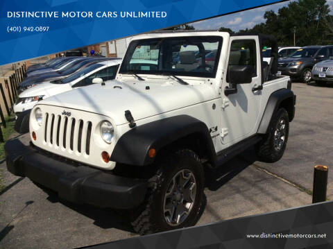 2008 Jeep Wrangler for sale at DISTINCTIVE MOTOR CARS UNLIMITED in Johnston RI