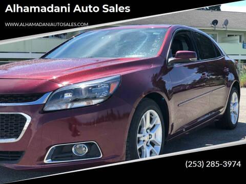 2015 Chevrolet Malibu for sale at ALHAMADANI AUTO SALES in Spanaway WA