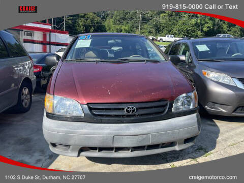 2001 Toyota Sienna for sale at CRAIGE MOTOR CO in Durham NC