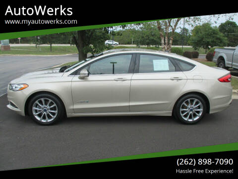 2017 Ford Fusion Hybrid for sale at AutoWerks in Sturtevant WI