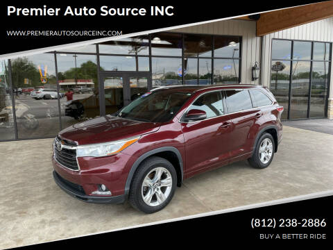 2016 Toyota Highlander for sale at Premier Auto Source INC in Terre Haute IN