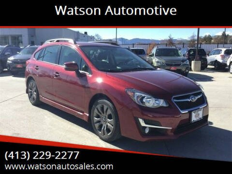 2015 Subaru Impreza for sale at Watson Automotive in Sheffield MA