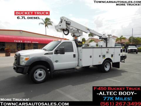 2011 Ford F-450 Super Duty for sale at Town Cars Auto Sales in West Palm Beach FL