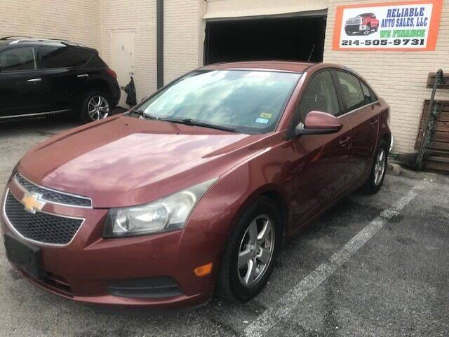 2012 Chevrolet Cruze for sale at Reliable Auto Sales in Plano TX