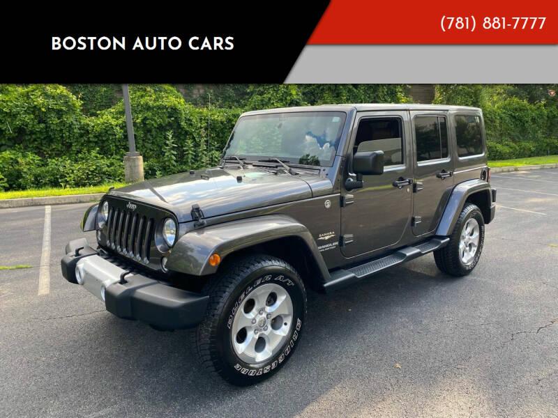 2014 Jeep Wrangler Unlimited for sale at Boston Auto Cars in Dedham MA