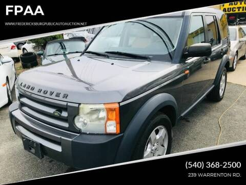2006 Land Rover LR3 for sale at FPAA in Fredericksburg VA