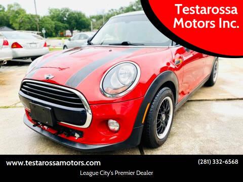 2016 MINI Hardtop 4 Door for sale at Testarossa Motors Inc. in League City TX