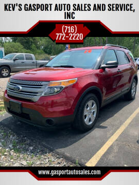 2014 Ford Explorer for sale at KEV'S GASPORT AUTO SALES AND SERVICE, INC in Gasport NY