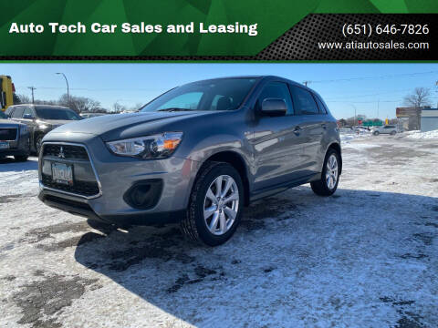 2015 Mitsubishi Outlander Sport for sale at Auto Tech Car Sales and Leasing in Saint Paul MN
