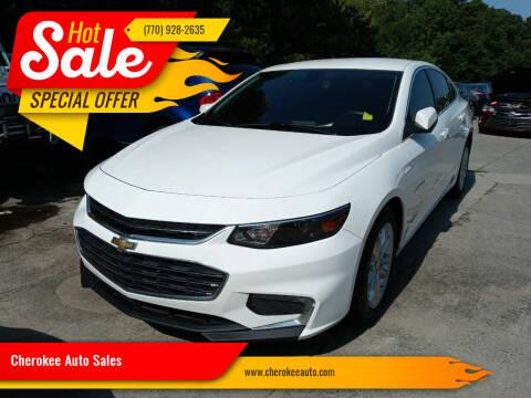 2016 Chevrolet Malibu for sale at Cherokee Auto Sales in Acworth GA