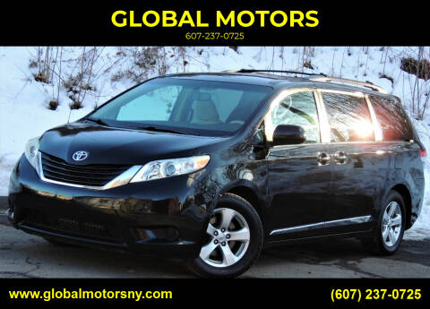 2013 Toyota Sienna for sale at GLOBAL MOTORS in Binghamton NY