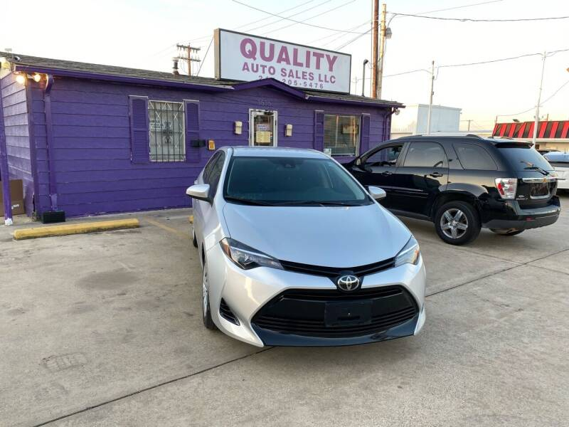 2017 Toyota Corolla for sale at Quality Auto Sales LLC in Garland TX