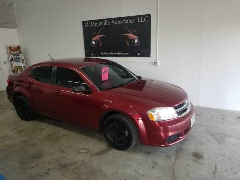 2014 Dodge Avenger for sale at McMinnville Auto Sales LLC in Mcminnville OR