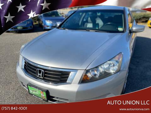 2010 Honda Accord for sale at Auto Union LLC in Virginia Beach VA