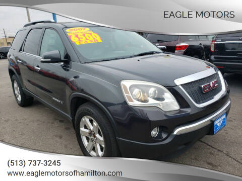 2007 GMC Acadia for sale at Eagle Motors in Hamilton OH